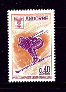 French Andorra 181 MLH 1968 Skier