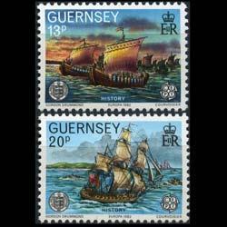 GUERNSEY 1982 - Scott# 241-2 Europa-Fleet Set of 2 NH