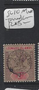 LEEWARD ISLANDS  (P2608BB)  QV 1D OVPT SG 10  MNH TONED GUM