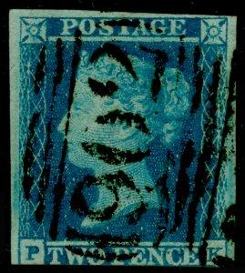 SG13, 2d pale blue, USED. Cat £110.