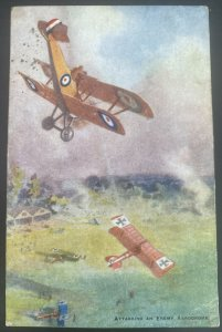 1919 England Picture Postcard Cover To Huddersfield Attacking An Enemy Aerodrome