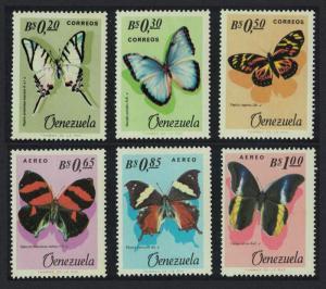 Venezuela Butterflies 6v SG#1926-1931 SC#886-888+C905-C907