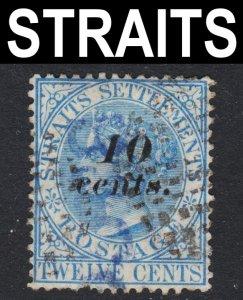 Malaya Straits Settlements Scott 34 Fine used.