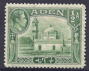 Aden #16 MNH - 1942 1/2a Aidrus Mosque