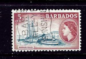 Barbados 239 Used 1953 Harbour Police