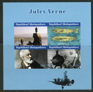 Madagascar 2020: Jules Verne imperforate sheet of four mint never hinged