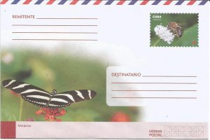 Cuba 2018 National Postal Stationery Butterflies and Bee N5 MNH