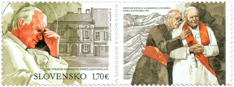 SLOVAKIA/2020 - Joint Issue Poland:100th Year of Birth of Pope John Paul II, MNH