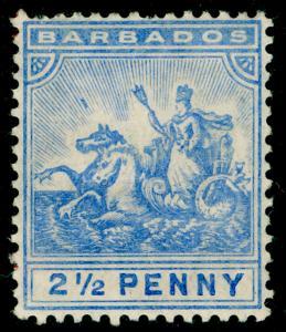 BARBADOS SG139, 2½d Blue, M MINT. Cat £30.