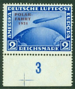 EDW1949SELL : GERMANY 1931 Scott #C41 Very Fine, Mint NH. Plate number stamp.