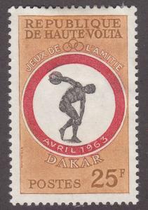 Burkina Faso 109 Discus 1963