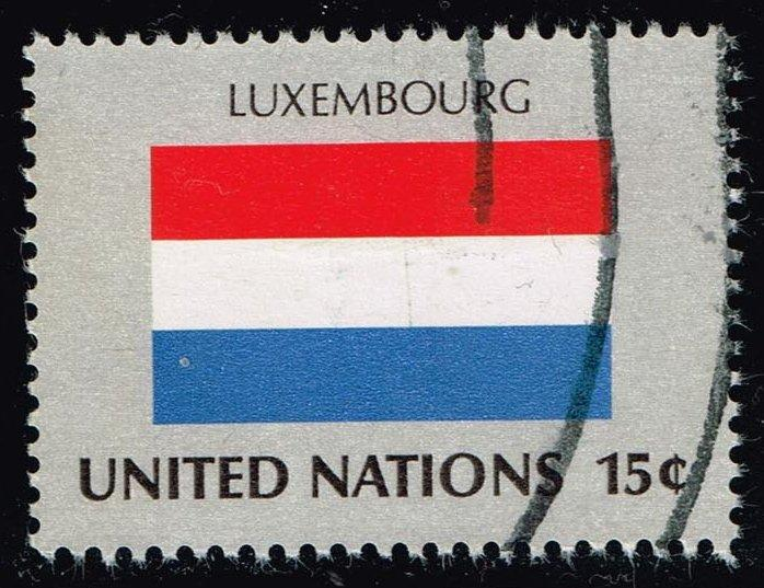 UN New York #326 Flag of Luxembourg; Used (0.25)