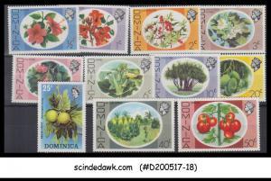 DOMINICA - 1975 QEII FLOWERS PLANTS FRUITS / DEFINITIVE 11V - MINT NH