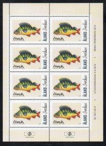 Aland Finland Sc 331 2012 Fish stamp sheet  mint NH