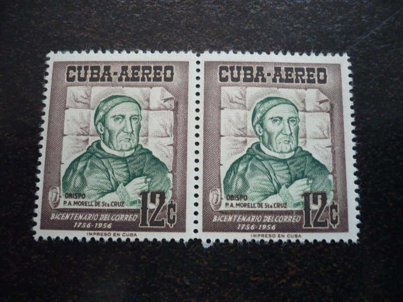 Stamps - Cuba - Scott# C129 - Mint Hinged Single Stamp in Pairs