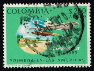 Colombia #C520 Junkers F-13; Used (0.25)