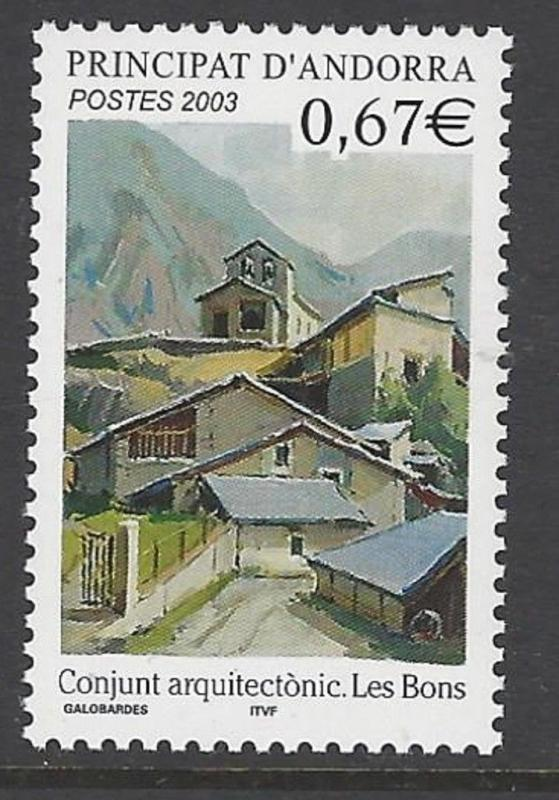 Andorra French 2003 Architecture Les Bons VF MNH (568)