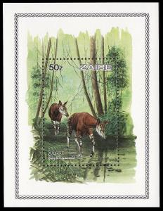 Zaire WWF Okapi Accompanying Miniature Sheet SG#MS1213 SC#1172
