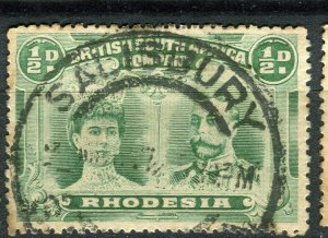 RHODESIA; 1910-15 early GV Double Head issue fine used Shade of 1/2d. value
