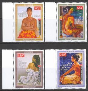 French Polynesia Sc# 764-767 MNH 1999 85fr-250fr multi Nudes