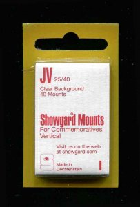 Showgard Clear Stamp Mounts JV 25/40 PreCut  (40 count)