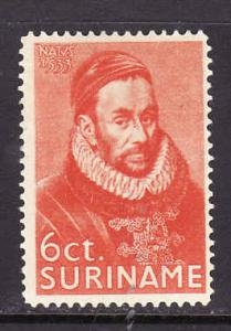 Surinam-Sc#141-unused light hinged 6c deep orange-Prince William I-1933-