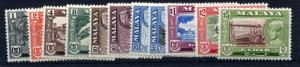 Malaya Kedah 1959 sg 104 - 114 set to $5, missing 5c LM