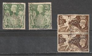 #249A,274 Great Britain Used George VI