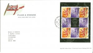 Flags & Ensigns Royal Mail First Day Cover 2001 Talents House Edinburgh PM Z9342