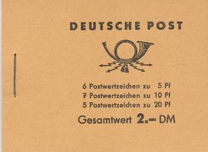 DDR #330c, 333a, 477a Complete Booklet CV $15.00 (SU6674L)