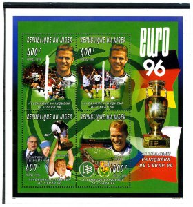 Niger 1996 FOOTBALL EURO'96 GERMANY WINNERS Sheet Perforated Mint (NH)