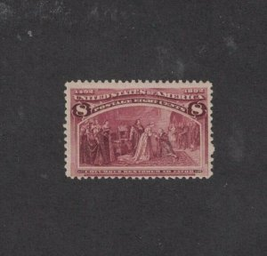 Scott 236 - Columbian 8 Cent. Single.  MH. OG.    #02 236b
