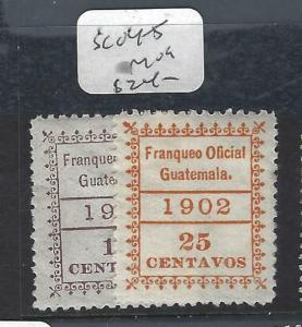 GUATEMALA   (P2403B)  OFFICIAL  SC O4-5   MOG