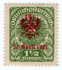 (I.B) Austria Postal : Unauthorised German Overprint 1.50k (1921)
