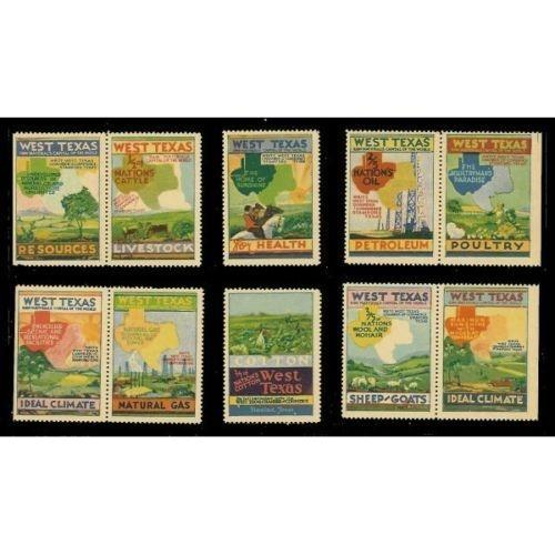 US - West Texas Promotional Advertising Poster Stamps
