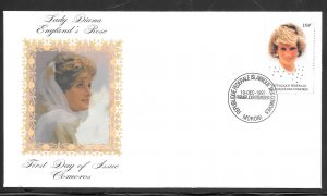 Just Fun Cover Comoro #813 FDC Offical Tributes to Princess Diana (my5763)