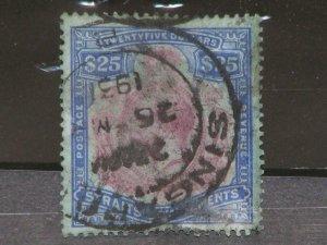 Straits Settlements-Scott# 172, used with Postal Cancel