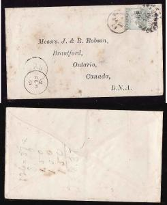#2244 - cover to Canada-Barbados-Ja 24 1901-1/2p franking fo