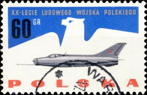 POLAND / POLEN - 1963 Mi.1427 60gr 20yrs People's Army - VF Used (b)