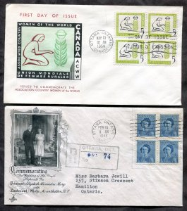 d31 - Canada Lot of (2) FDC Covers 1948 & 1959