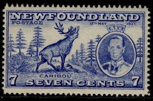 CANADA - Newfoundland GVI SG259, 7c bright ultramarine, LH MINT. PERF 14