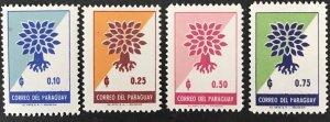 Paraguay 1961 # 619-22 /WRY, MNH, CV $1