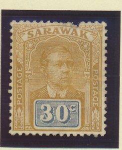 Sarawak Stamp Scott #91, Unused, No Gum, Faults