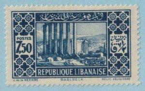 LEBANON 129  MINT HINGED OG * NO FAULTS EXTRA FINE !