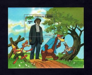 TURKS & CAICOS - 1981 - DISNEY - UNCLE REMUS - BRER RABBIT + MINT - MNH S/SHEET!