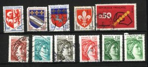 France 902,1041,1142,1143,1346,1563,1565,1571,1602,1664,1665  used   PD