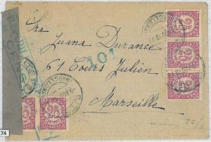 SPAIN - POSTAL HISTORY - GUERRA CIVIL: Cover to France with CENSOR MARK and TAPE