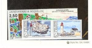 St. Pierre and Miquelon Scott 580-582a NH    [ID#431286]