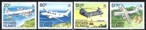 Pitcairn Islands Sc# 323-326 MNH 1989 Aircraft