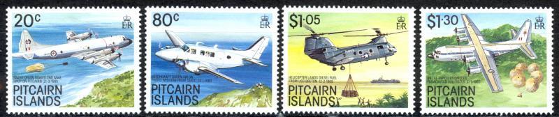 Pitcairn Islands Sc# 323-326 MNH 1989 Aircraft